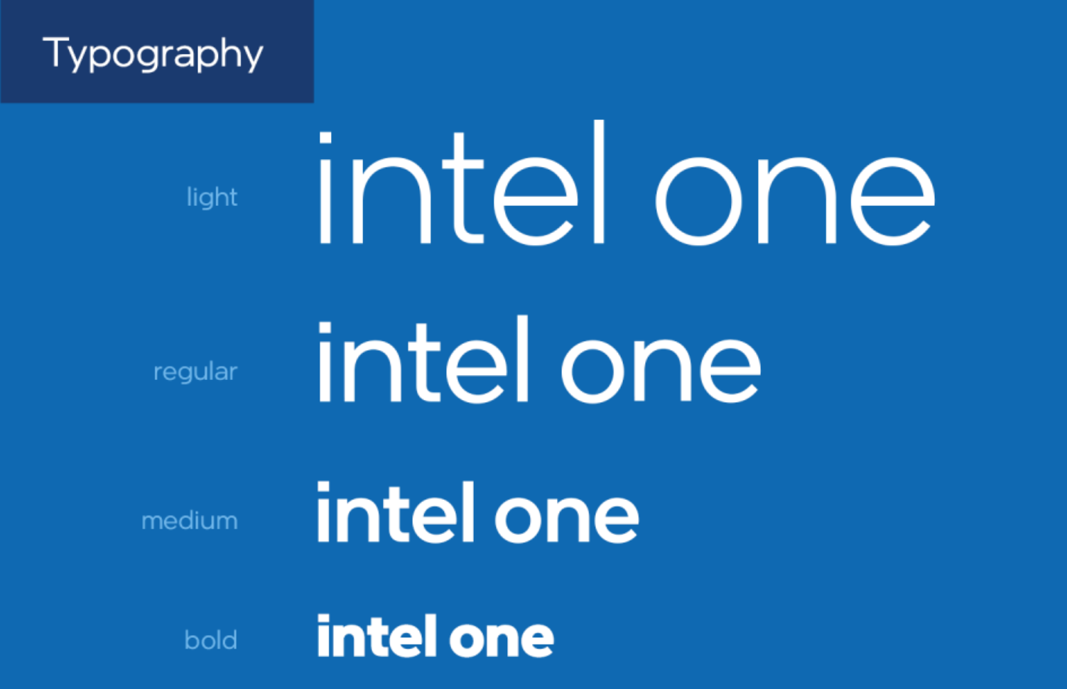 Tipografía Intel one