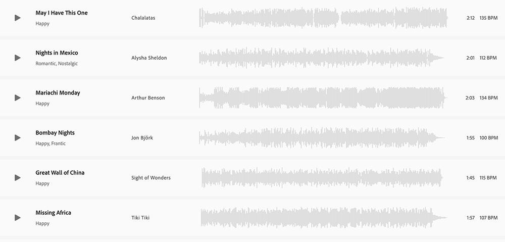 Tendencias también en audio, Adobe