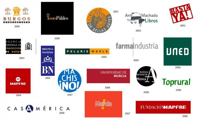 Diversos logos de Alberto Corazón