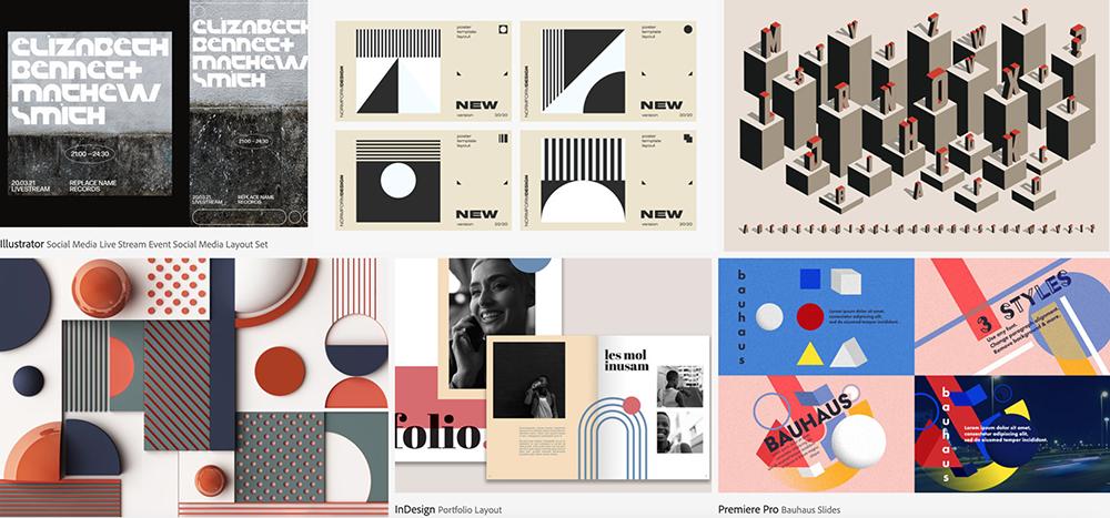 Tendencia estética bauhaus, Adobe