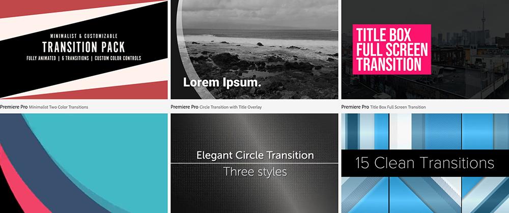 Tendencia uso de transiciones, Adobe