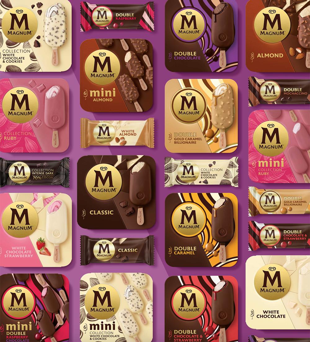 Nuevo packaging de la familia de productos Magnum