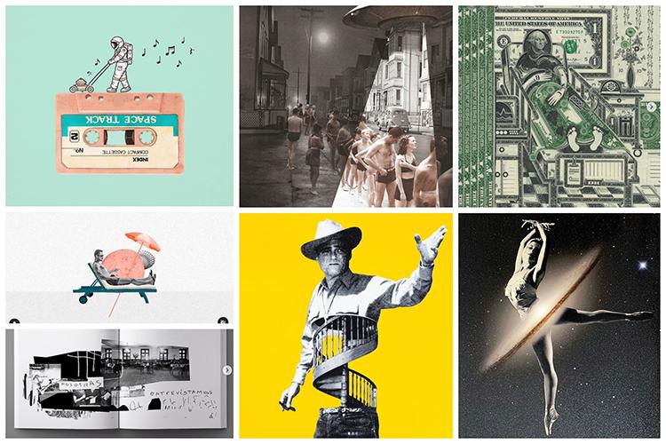 Autores collage: @buko2, @markwagnerinc, @joewebbart, @guillaumeguillaumechiron, Lynn Skordal, @gabrielrusso, @laboli